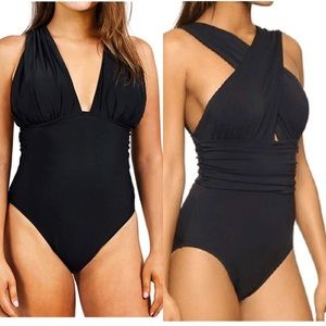 Front or Back Cross Deep Feelings Bathing Suit